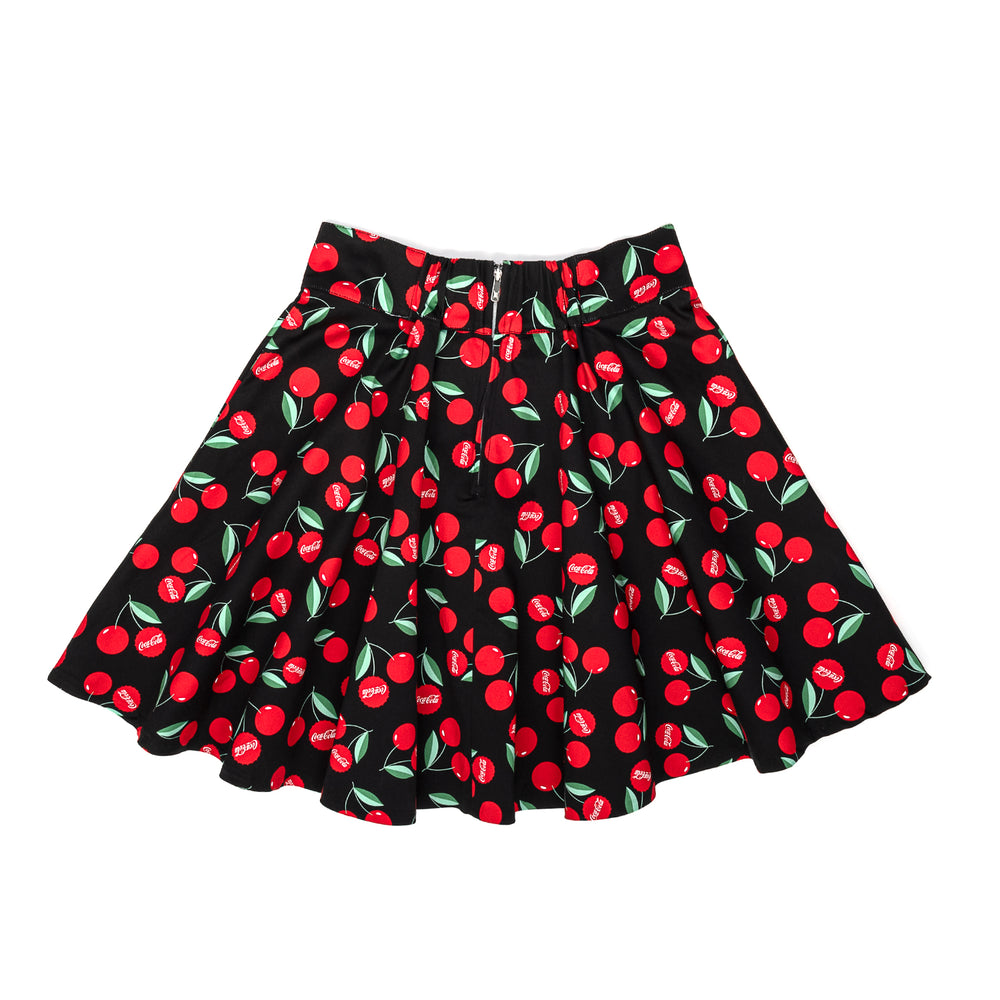 "Stitch Shoppe X Coca-Cola Cherries AOP ""Monique"" Skirt-zoom"
