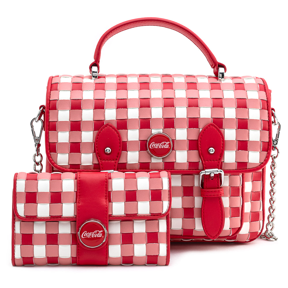 Stitch Shoppe X Coca-Cola Gingham Woven Wallet-zoom