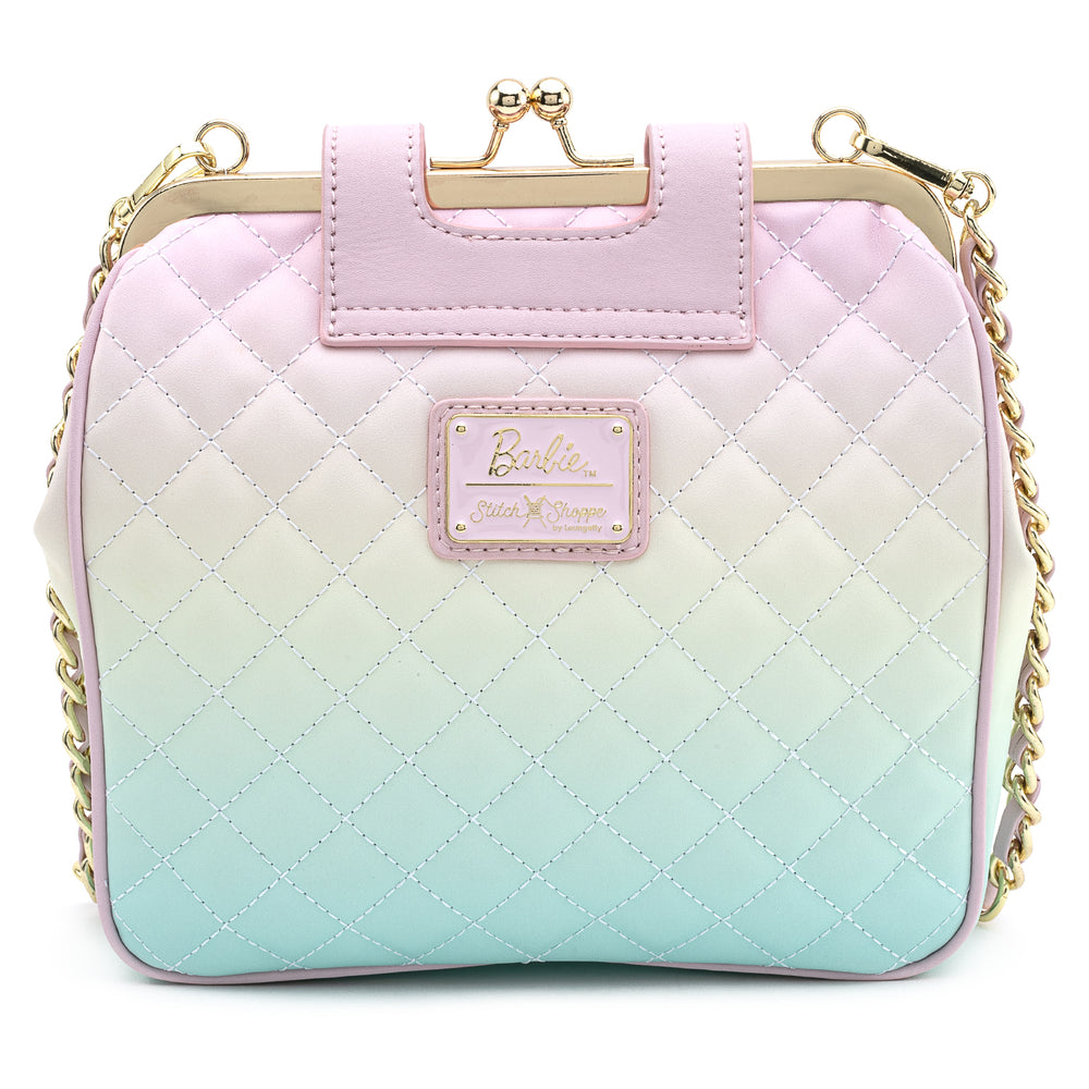 Stitch Shoppe X Barbie™ Kisslock Quilted Ombre Cross Body Bag-zoom