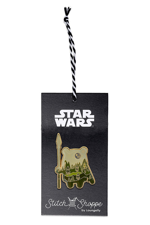 "Star Wars Stitch Shoppe By Loungefly Ewok Village ""Derrick"" Button Front Top-zoom"