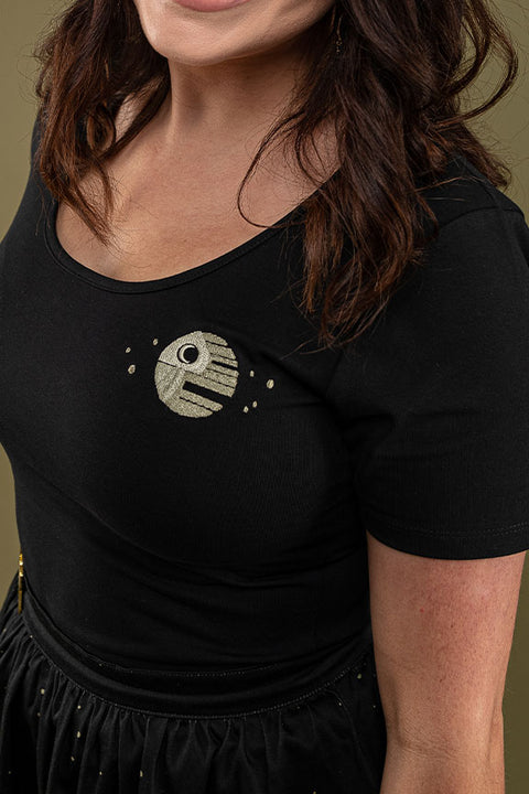 "Star Wars Stitch Shoppe By Loungefly Death Star ""Kelly"" Fashion Top"
