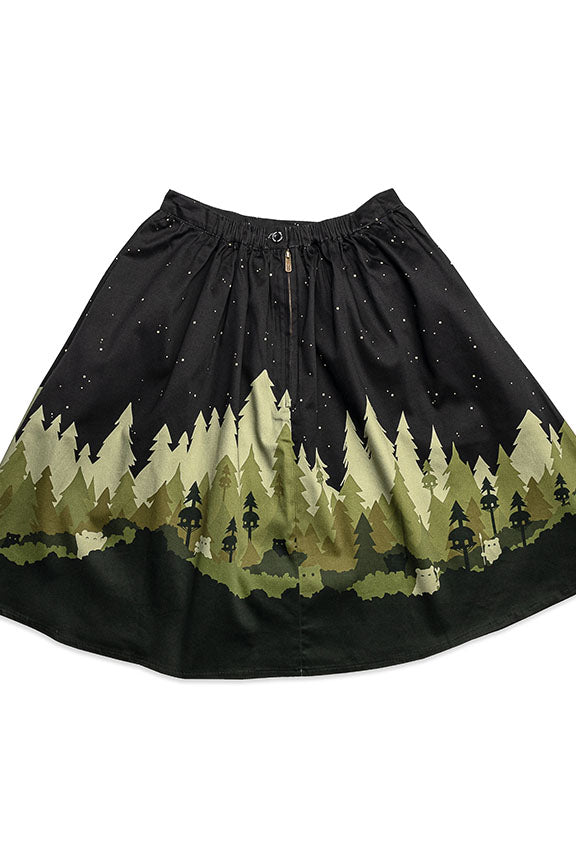 Star Wars Stitch Shoppe By Loungefly Ewok Village Sandy Skirt-zoom