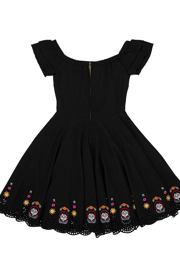 "Pixar Stitch Shoppe Coco Laser Cut Embroidered ""Lizzy"" Dress-zoom"