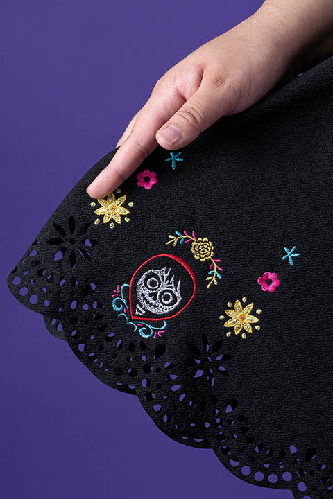 "Pixar Stitch Shoppe Coco Laser Cut Embroidered ""Lizzy"" Dress"