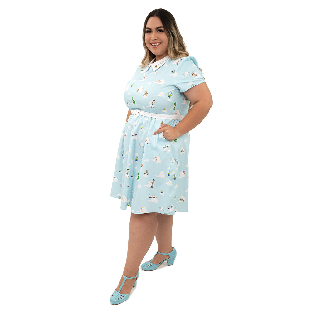 "Pixar Stitch Shoppe Toy Story Friends ""Gemma"" Collared Dress-zoom"