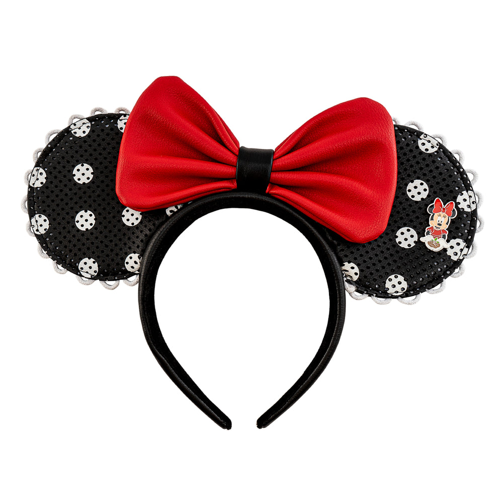 Disney. X Loungefly! Minnie Mouse Polka Dot Pin Trader Ears-zoom