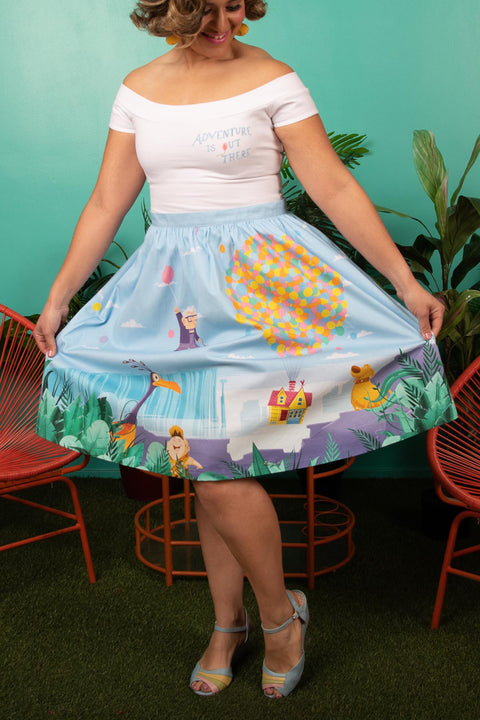 "Pixar Stitch Shoppe Up Paradise Falls ""Sandy"" Skirt"