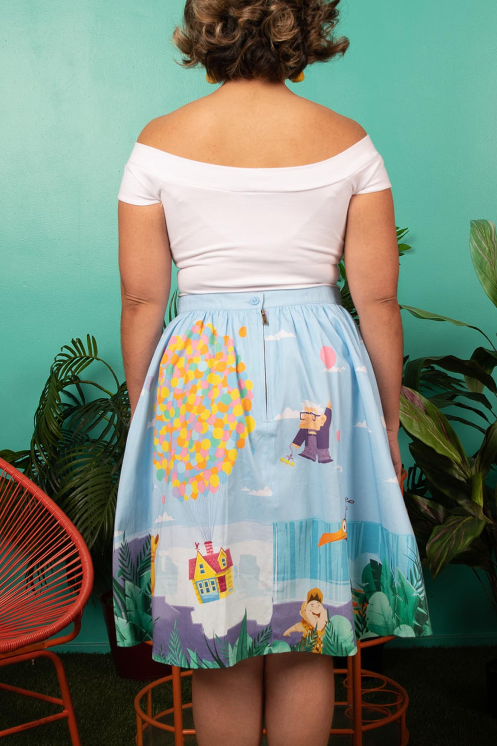 "Pixar Stitch Shoppe Up Paradise Falls ""Sandy"" Skirt-zoom"