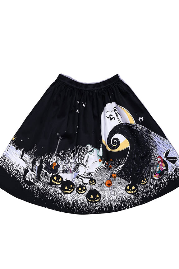 "Disney Stitch Shoppe The Nightmare Before Christmas Spooky Scene ""Sandy"" Skirt-zoom"