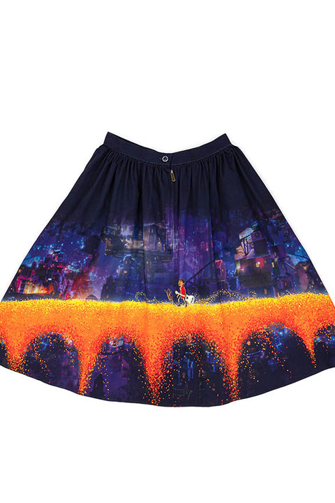 "Pixar Stitch Shoppe Coco Marigold Bridge ""Sandy"" Skirt"