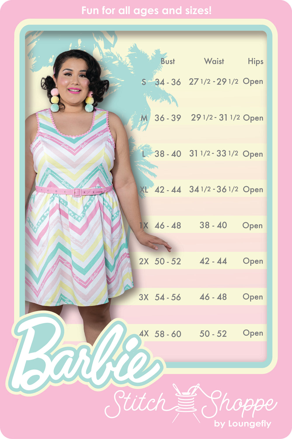 "Stitch Shoppe X Barbie™ Chevron ""Olivia"" Tank Dress-zoom"