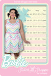 "Stitch Shoppe X Barbie™ Chevron ""Olivia"" Tank Dress"