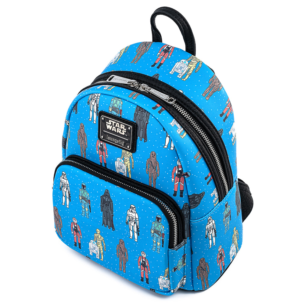 Star Wars Action Figures AOP Mini Backpack-zoom