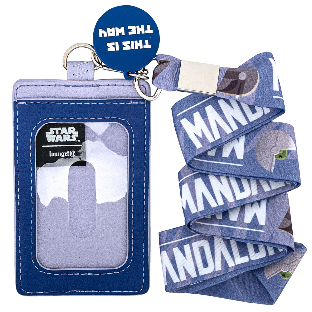 "Star Wars The Mandalorian ""The Child"" This is the Way Lanyard with Cardholder-zoom"