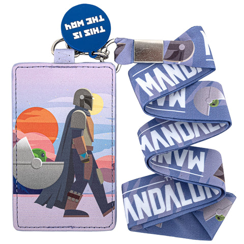 "Star Wars The Mandalorian ""The Child"" This is the Way Lanyard with Cardholder"