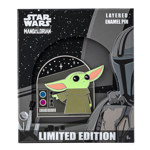 "Star Wars The Mandalorian ""The Child"" Buttons Collector Box Enamel Pin"