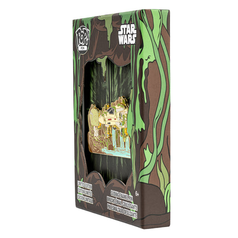 Star Wars Yoda Force Collector Box Sliding Enamel Funko Pop! Pin Side in Box View