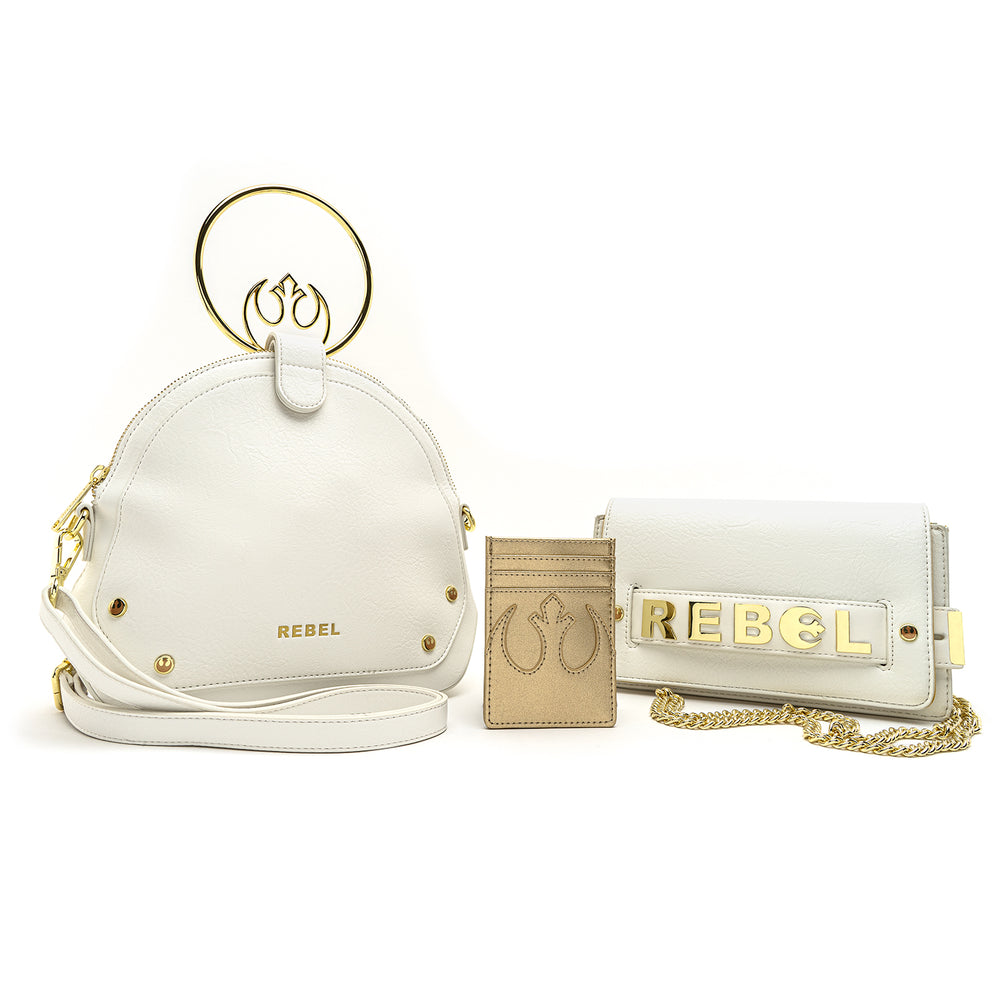 Loungefly X Star Wars Gold Chain Rebel Clutch Crossbody Bag-zoom