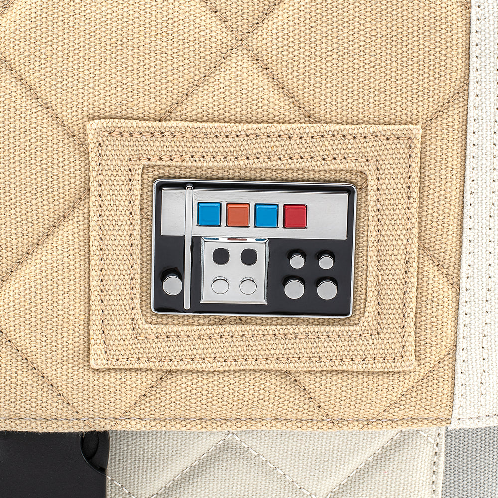 Loungefly X Star Wars Empire Strikes Back 40th Anniversary Luke Skywalker Hoth Canvas MessengerBag-zoom
