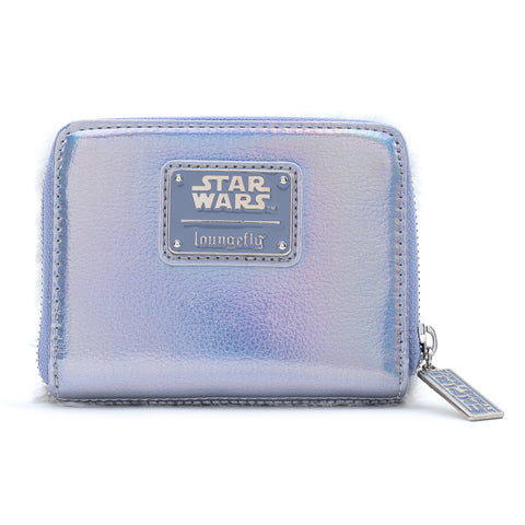 Loungefly X Star Wars Empire Strikes Back 40th Anniversary Hoth Sherpa Zip Around Wallet