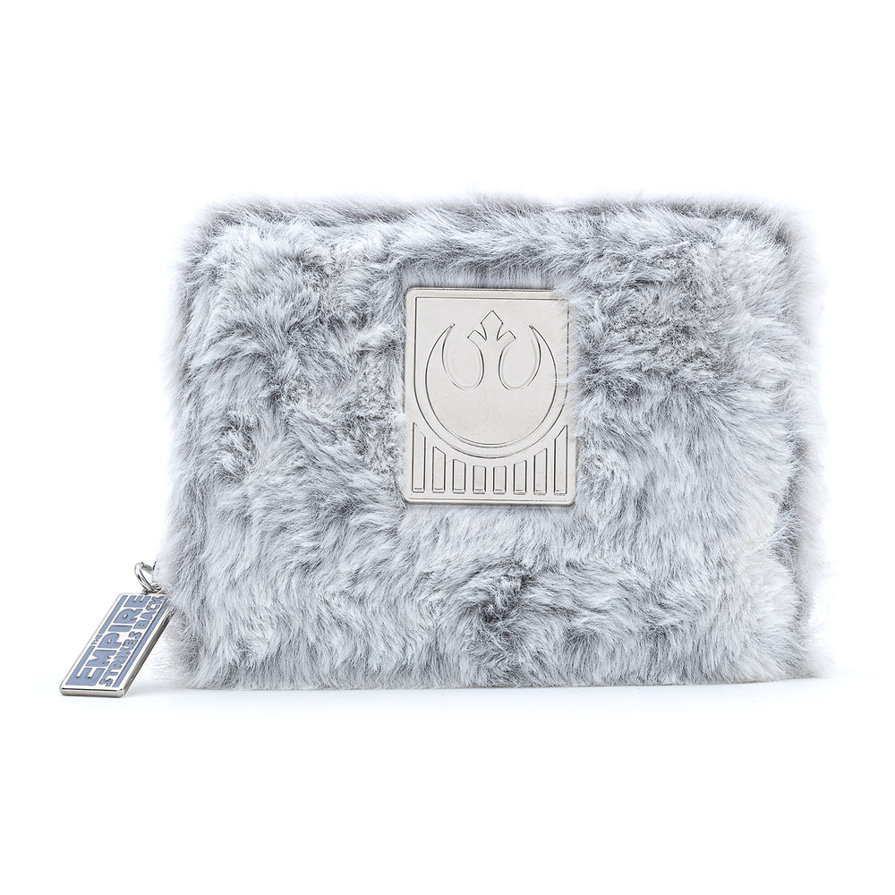 Loungefly X Star Wars Empire Strikes Back 40th Anniversary Hoth Sherpa Zip Around Wallet-zoom