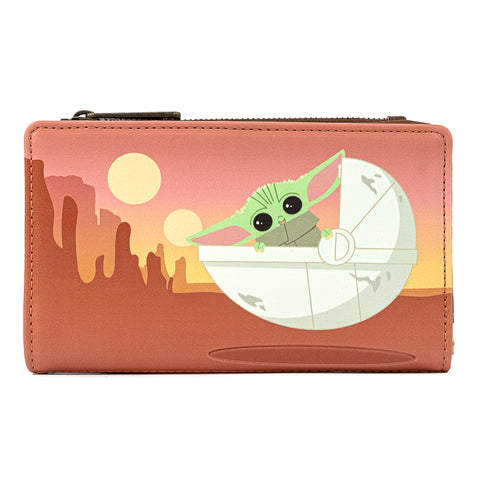 "Star Wars The Mandalorian ""The Child"" Wait for Me Bi-Fold Wallet"
