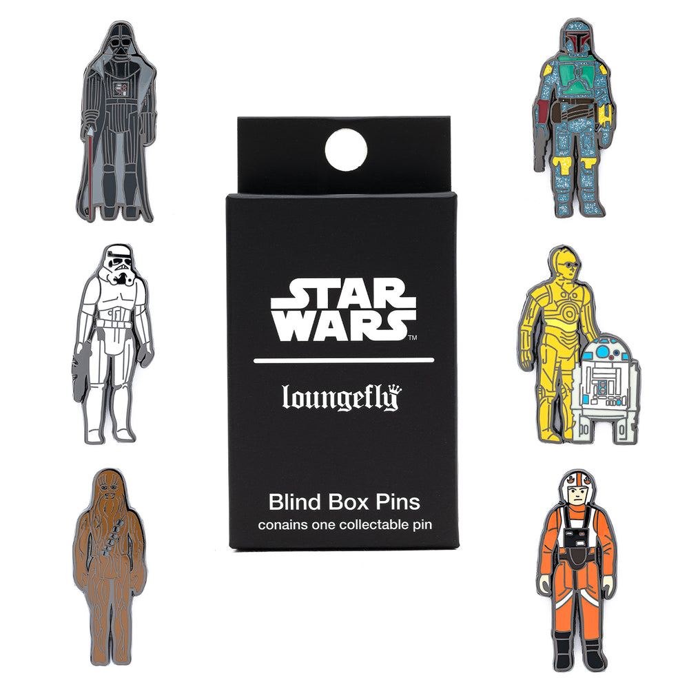 Loungefly X Star Wars Empire Strikes Back 40th Anniversary Kenner Figs Blind Box Pins-zoom
