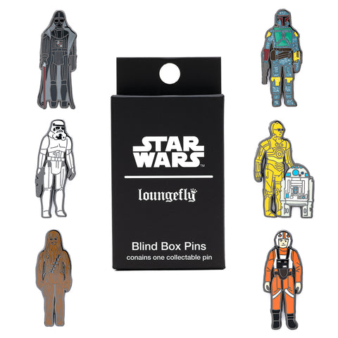 Loungefly X Star Wars Empire Strikes Back 40th Anniversary Kenner Figs Blind Box Pins