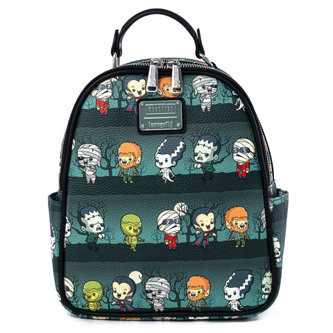 Loungelfy X Universal Monsters Chibi AOP Mini Backpack