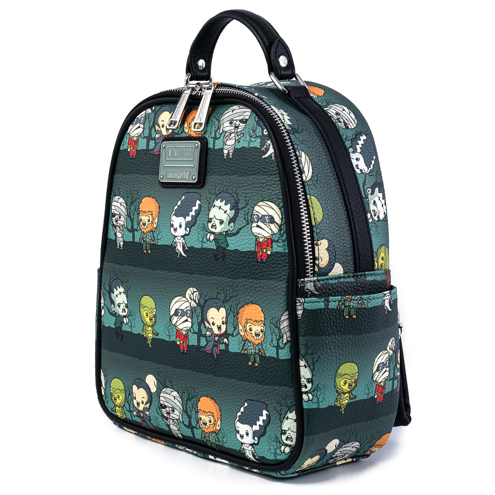 Loungelfy X Universal Monsters Chibi AOP Mini Backpack-zoom