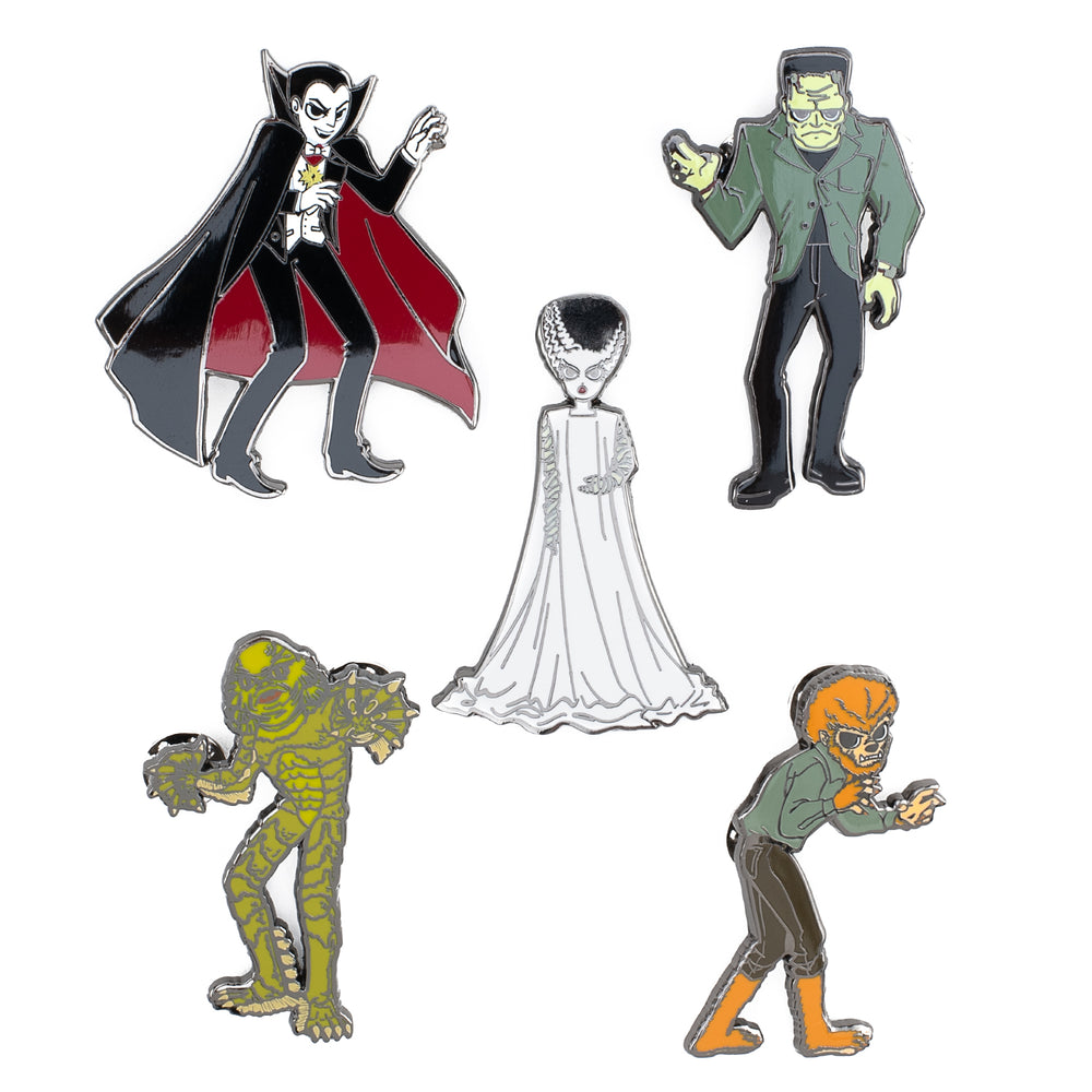 Loungefly X Universal Monsters Summer Convention 5 Piece Pin Set-zoom