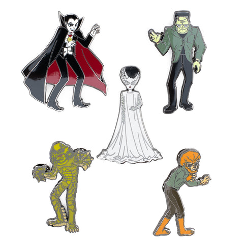 Universal Monsters Summer Convention 5pc Pin Set