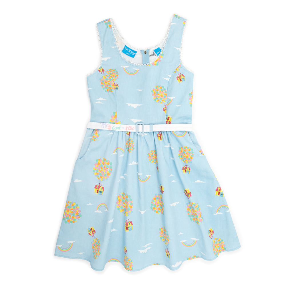 "Pixar Stitch Shoppe Up Balloon House All Over Print ""Olivia"" Tank Dress-zoom"