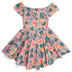 "Pixar Stitch Shoppe Up Tropical All Over Print ""Lizzy"" Date Night Dress"