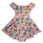"!Pixar Stitch Shoppe Up Tropical All Over Print ""Lizzy"" Date Night Dress"