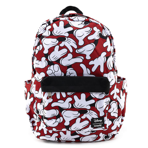 Loungefly X Disney Mickey Mouse Hands AOP Nylon Backpack