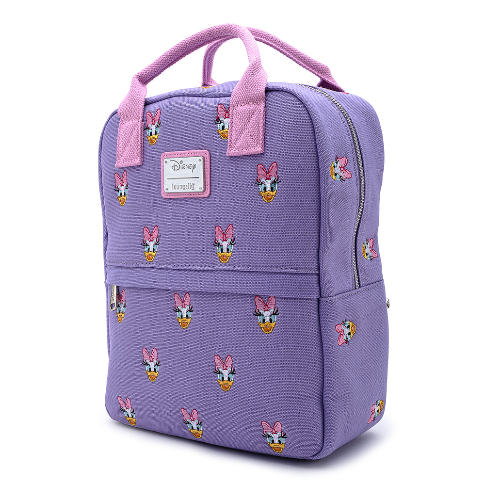 Disney Daisy Duck Embroidered AOP Canvas Backpack-zoom