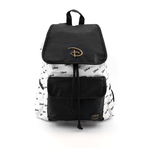 Loungefly X Disney Logo Nylon Slouch Backpack
