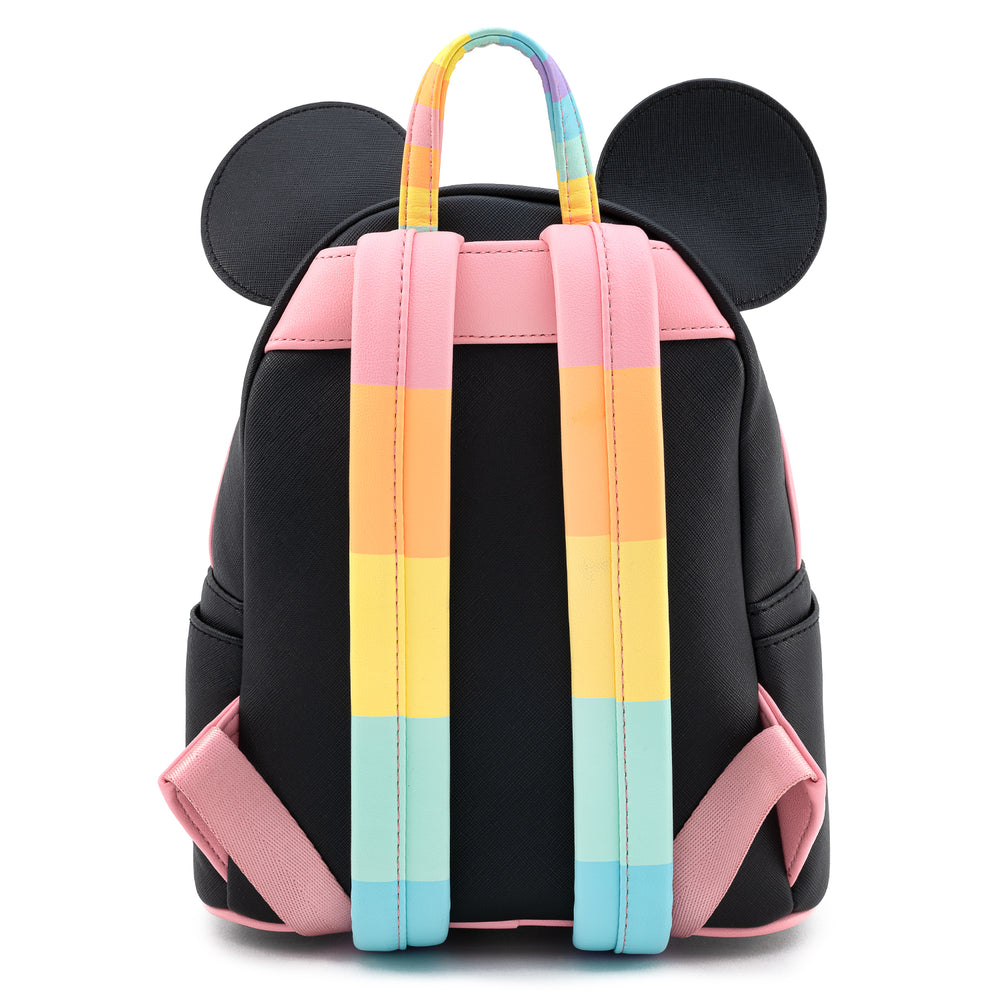 Loungefly X Disney Mickey Mouse Pastel Rainbow Cosplay Mini Backpack-zoom