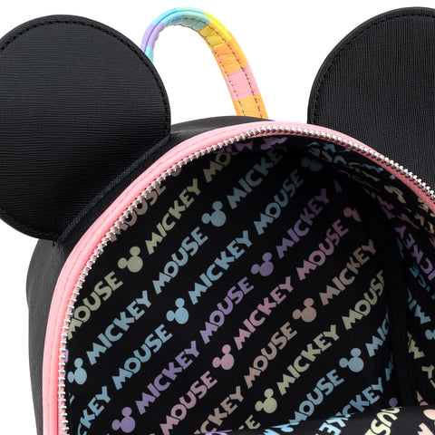 Loungefly X Disney Mickey Mouse Pastel Rainbow Cosplay Mini Backpack