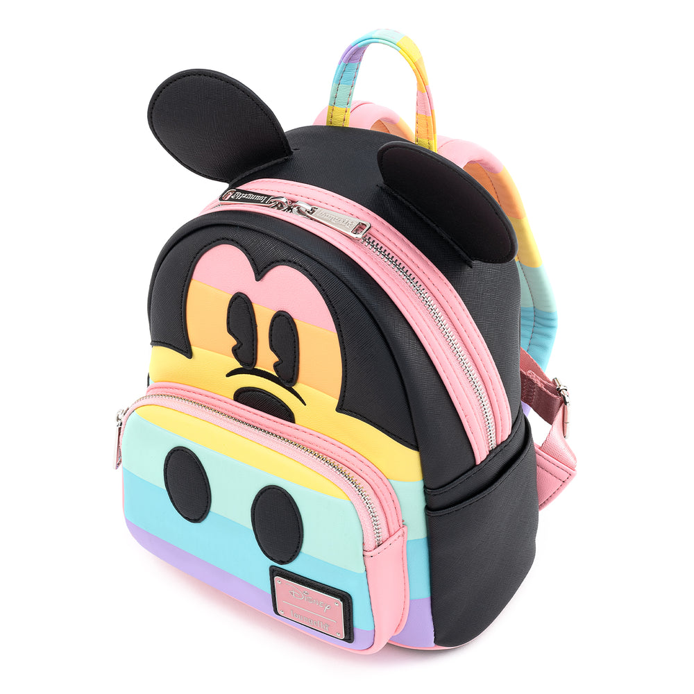 Disney Mickey Mouse Pastel Rainbow Cosplay Mini Backpack-zoom
