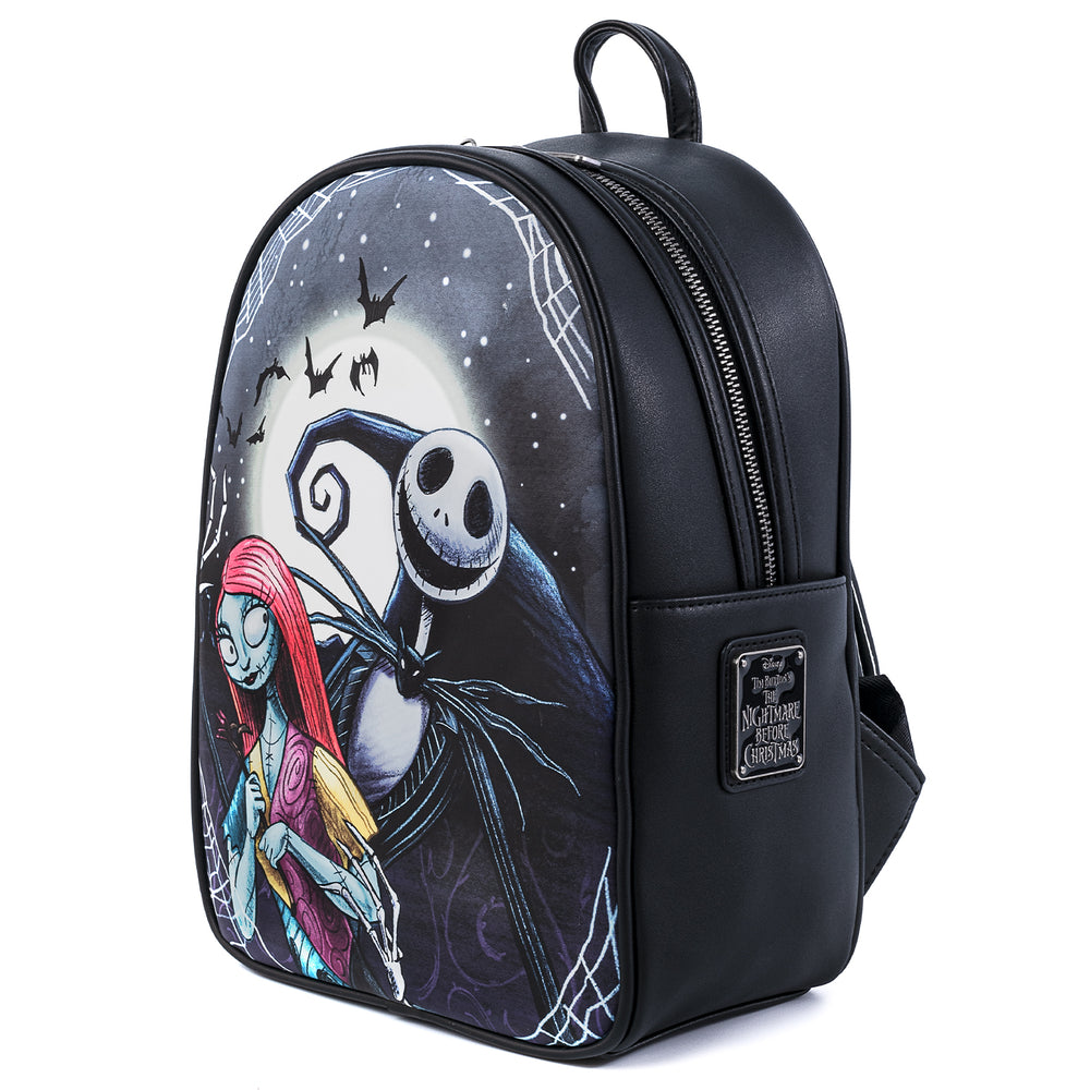 Disney The Nightmare Before Christmas Jack And Sally Simply Meant To Be Mini Backpack-zoom