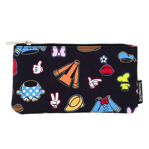 Loungefly X Disney Sensational 6 Outfits AOP Nylon Pouch