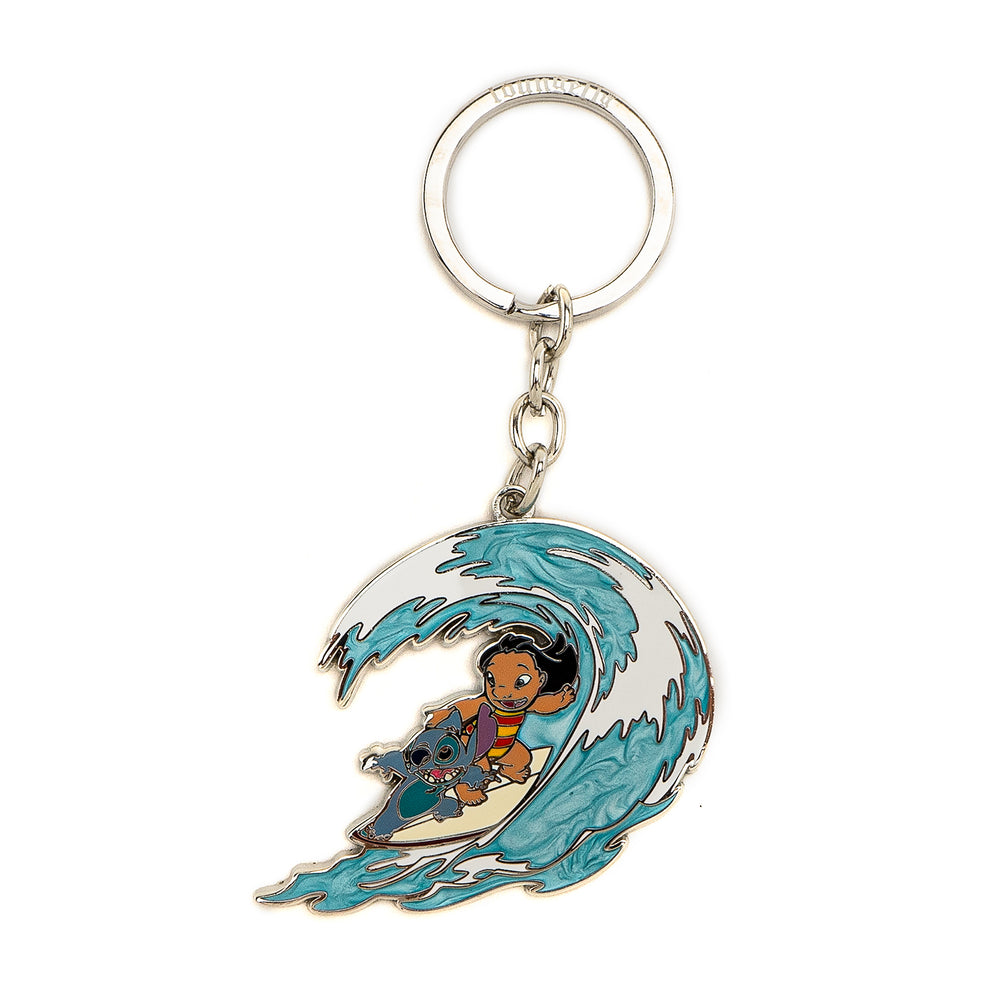 Loungefly X Disney Lilo and Stitch Hawaiian Rollercoaster Ride Enamel Keychain-zoom