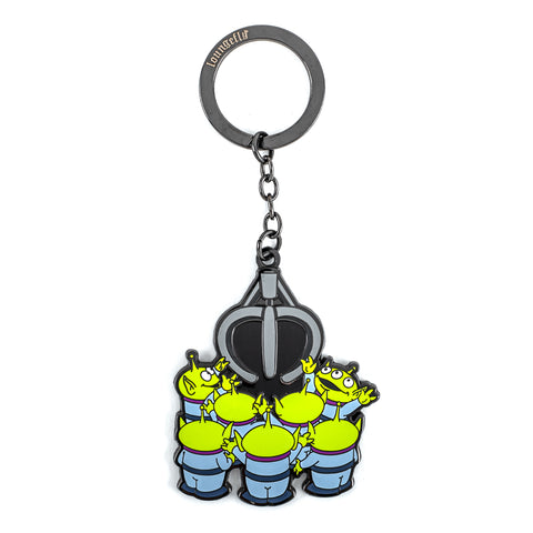 Pixar Toy Story Aliens and Claw Enamel Keychain