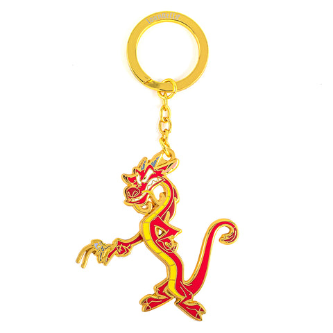 Loungefly X Disney Mushu and Cri-kee Movable Arm Enamel Keychain