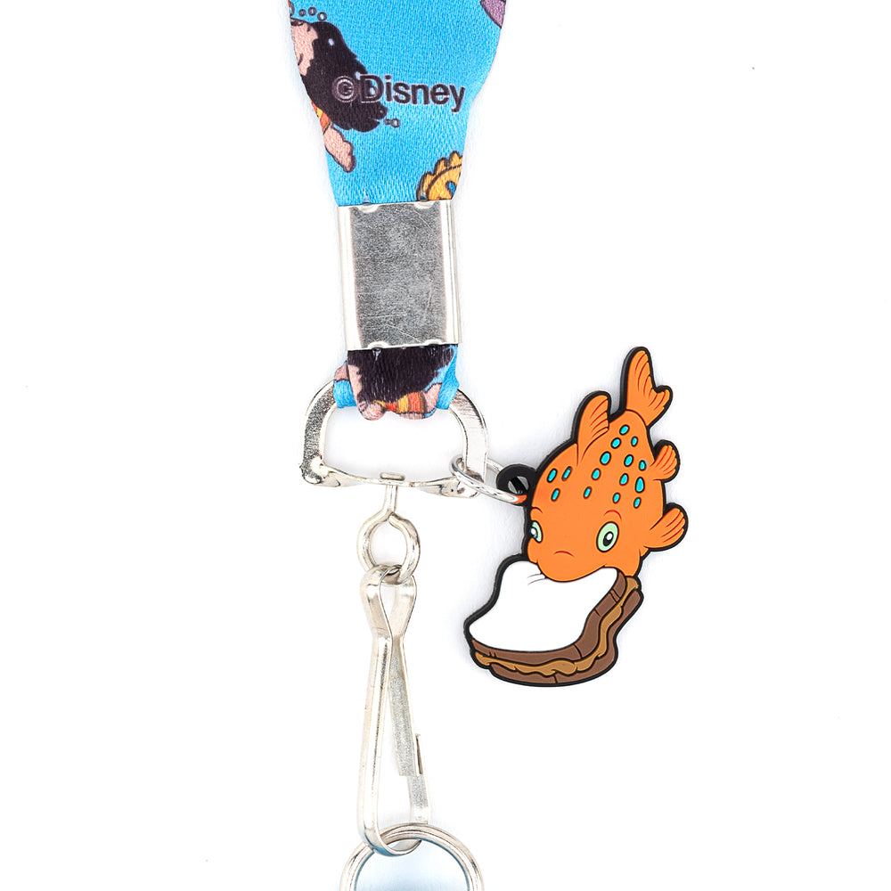 Loungefly X Disney Lilo and Stitch Swimming Image Lanyard With Cardholder-zoom