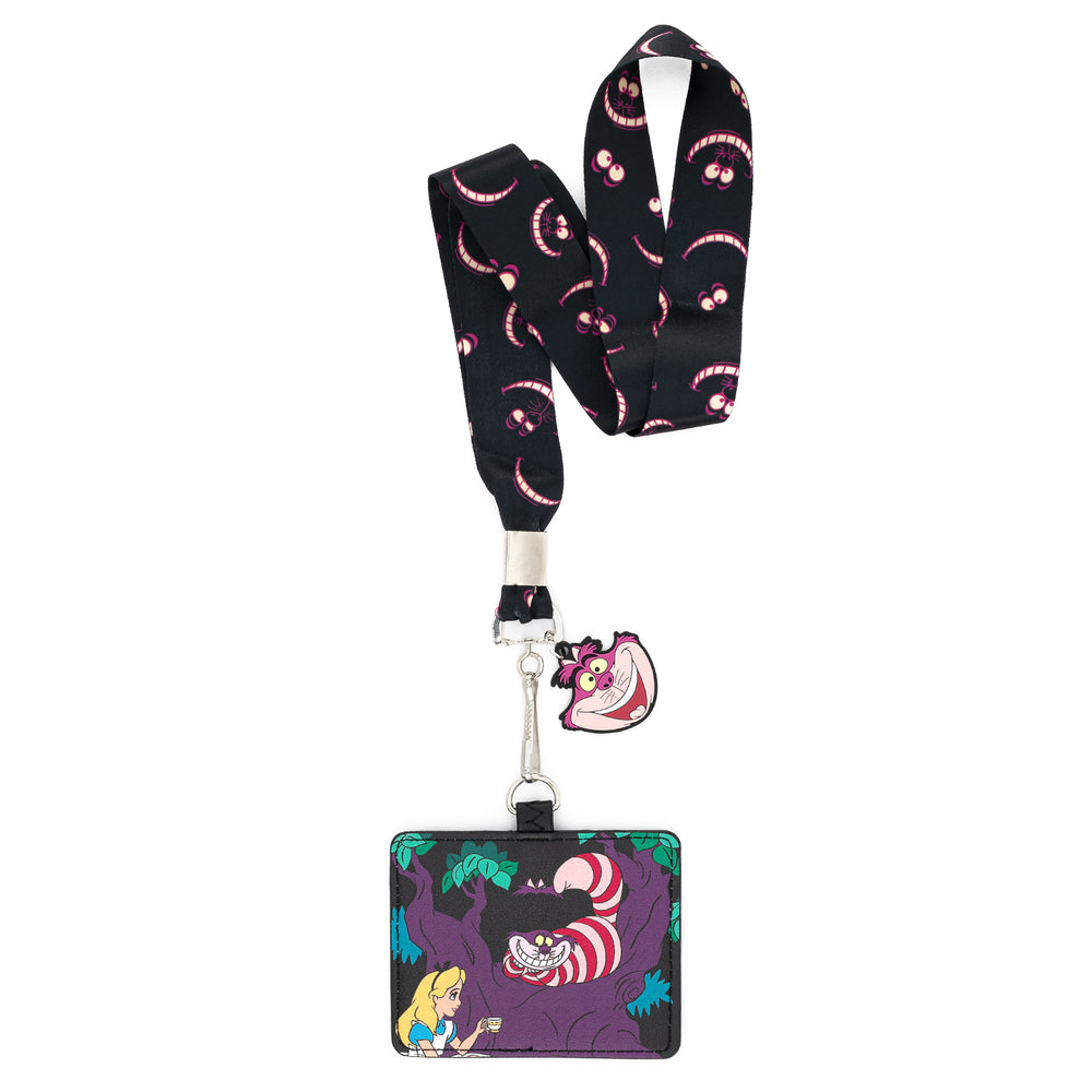 Loungefly X Disney Alice in Wonderland Cheshire Cat Lanyard with Cardholder-zoom