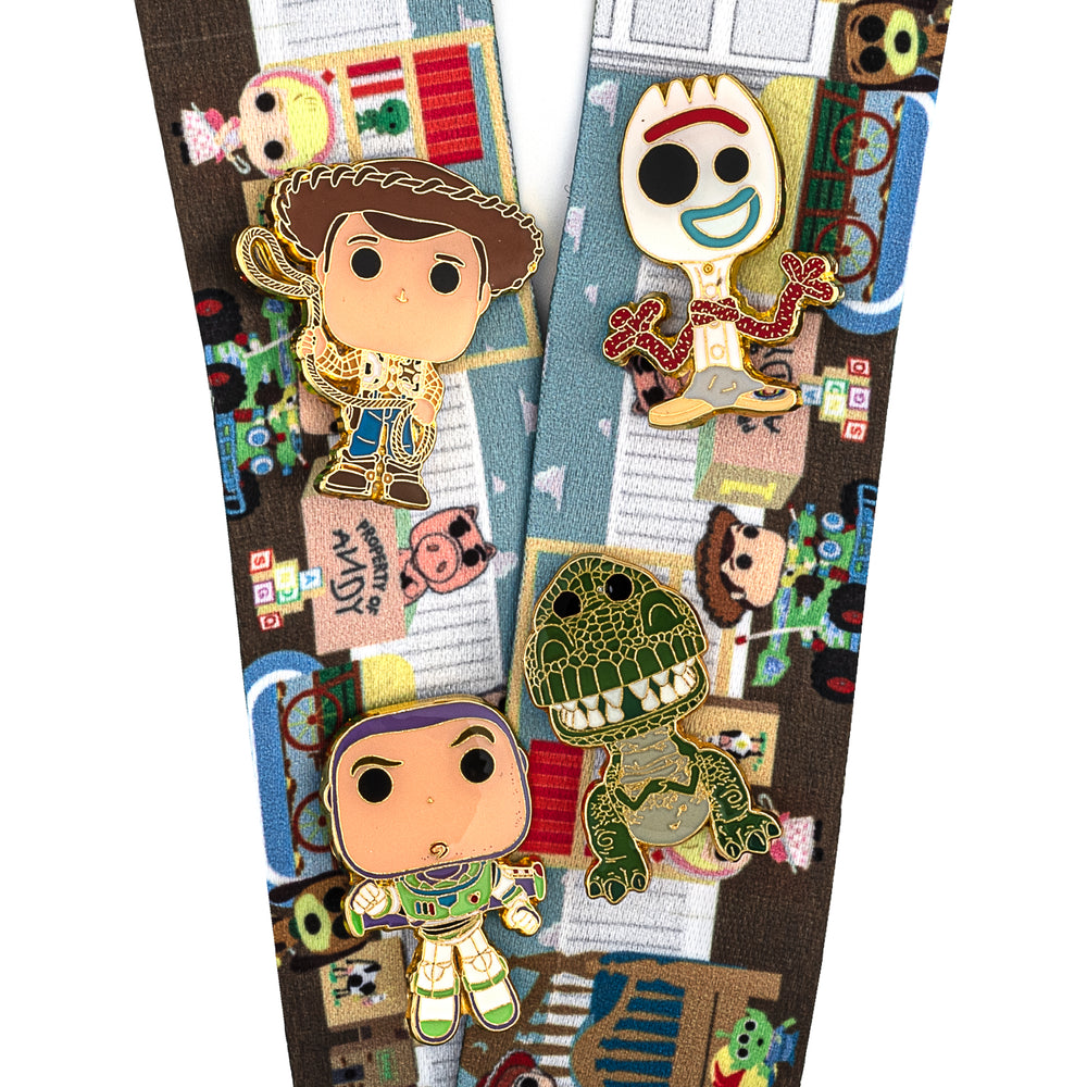 Funko Pop! by Loungefly Pixar Toy Story Lanyard with Cardholder & 4 Enamel Pins-zoom