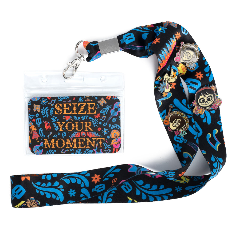 Pixar Coco Seize Your Moment Lanyard with Cardholder & 4 Enamel Pins-zoom